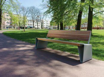 radium, LRA, LRA160, park bench, design: David Karasek, Radek Hegmon, Czech Republic,Zlin